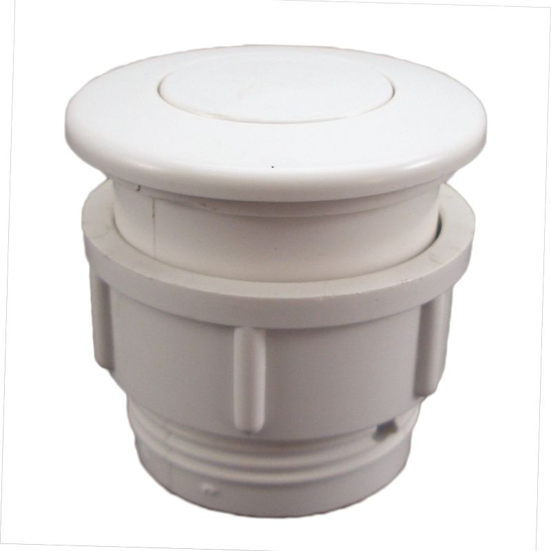 Air Button Waterway Flush Mount White