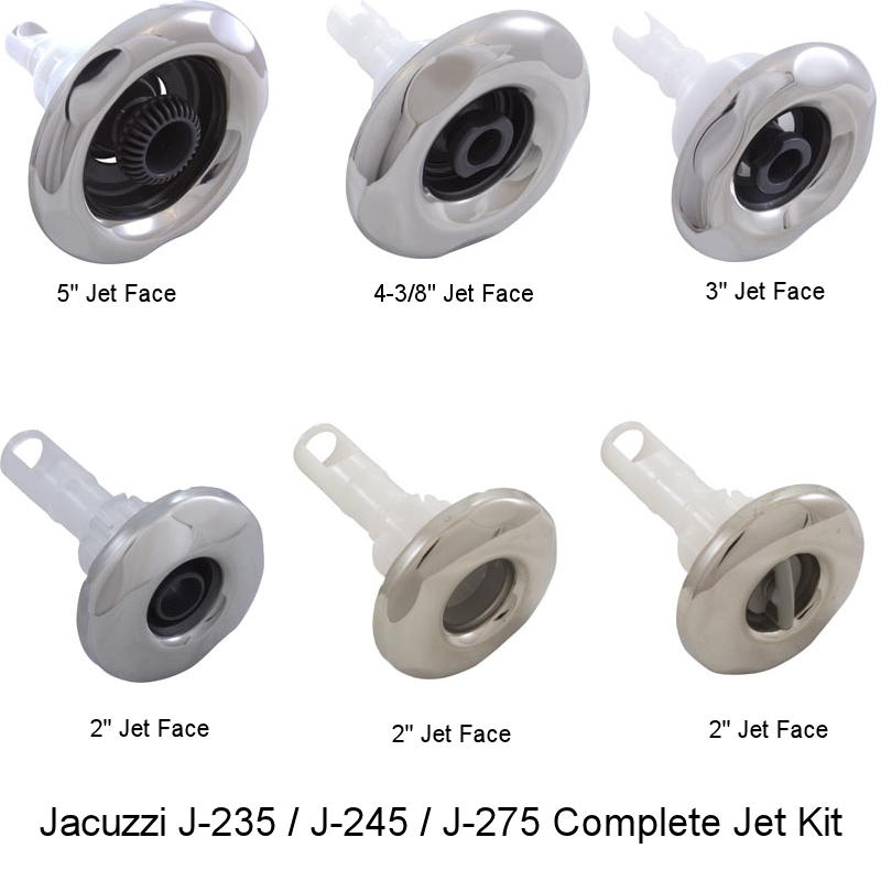 Jacuzzi J-235 Complete Jet Kit 35 Total Jets with Stainless