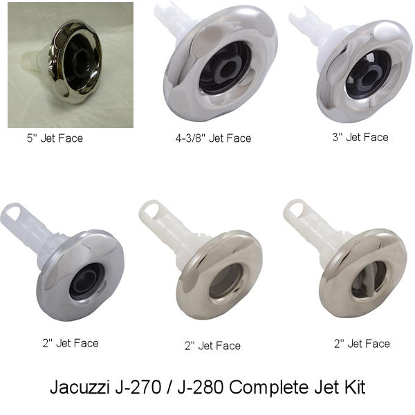 Jacuzzi J-280 Complete Jet Kit 44 Total Jets with Stainless