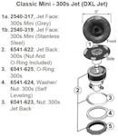 "Jacuzzi J-200 Jet Parts 300 DXL 3"" Jet Face"