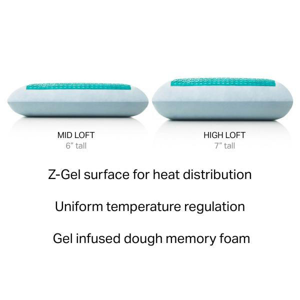 Malouf Z-Gel Infused Memory Foam with Liquid Z-Gel Pillow